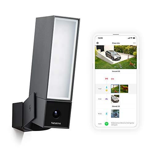 Cámara Wifi para exteriores Netatmo, luz integrada, sensor de movimiento, visión nocturna, sin suscripciones, presencia NOC01-IT