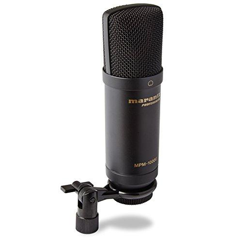 Marantz Professional MPM-1000U - Micrófono de Condensador USB de Diafragma Grande para Podcasting y Grabación que Incluye Cable USB y Pinza de Micro