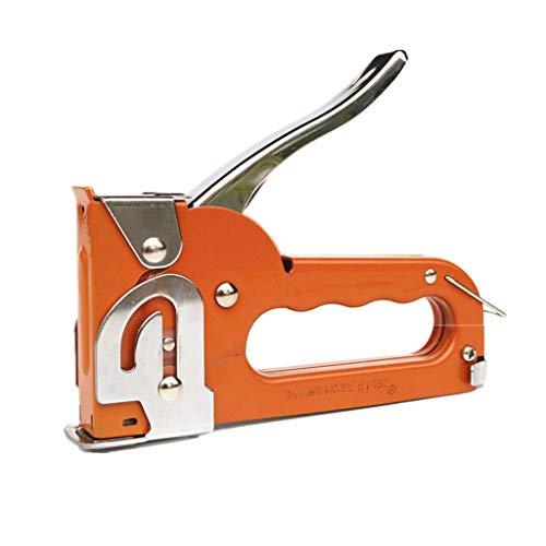 Cucitrice Staple multifunzionale cucitrice, risparmio di manodopera Binding Tool, carta e pelle, tenuto in mano di sicurezza, Orange (libera 1 scatola di graffette) Cucitrice per alti spessori