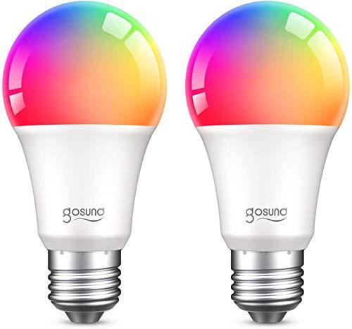 Gosund Bombilla Led Inteligente E27 8W 800LM Lámpara Regulable,...