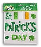 Holiday St. Patricks Day Irish Flag and and Shamrocks Gel Window Clings - 22 Piece