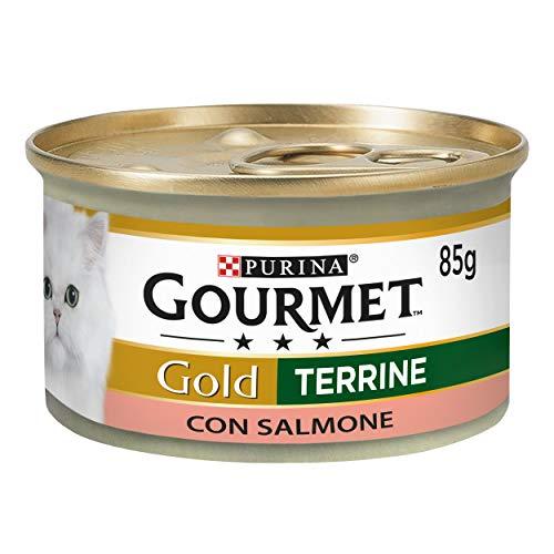 PURINA GOURMET GOLD Húmedo Gato paté con salmón – 24 latas de 85 g Cada Paquete de 24 x 85 g
