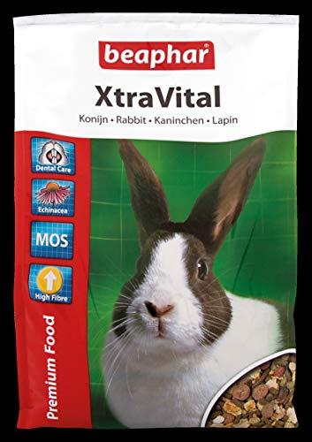 beaphar XtraVital Kaninchen Futter   Ausgewogenes Kaninchenfutter   Mit zahnpflegenden Eigenschaften   Geringer Fettgehalt   Mit Echinacea & Alfalfa   2,5 kg