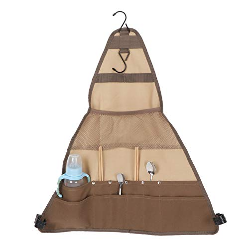 Sac de vaisselle de camping, sac de rangement suspendu, sac de rangement de vaisselle pour barbecue, sac de support suspendu, accessoire de barbecue pour les cuisines d'extérieur,