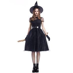 Disfraz Sexy de ángel caído para Mujer, Disfraces de Halloween para Halloween Cosplay Party Negro
