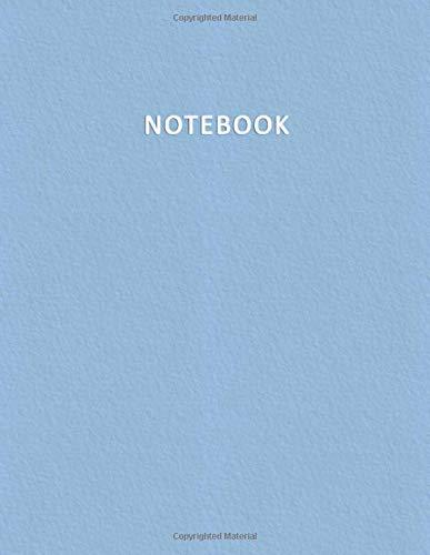 Notebook: Quaderno per appunti con 100 pagine bianche e numerate  Elegante e Moderno color pastello nella tonalit Azzurro Beb  Misura A4  Diario, Doddles, Schizzi, Disegni, Note, Memorie