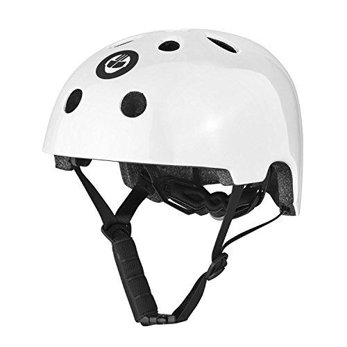 Gotrax Multi-Sport Skateboard Scooter and Bike Helmet (White, Small)