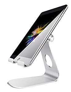 270° Rotating Provide Perfect View of Angel : Lamicall Tablet Stand equiped a rotating shaft that supports 270 degrees rotation.It helps you to find perfect angle of view when using Facetime and watching films. Elegant design and exquisite workmanshi...