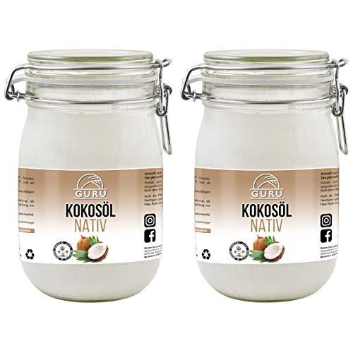 Guru Kokosöl nativ und naturrein -Bio Qualität- 1....