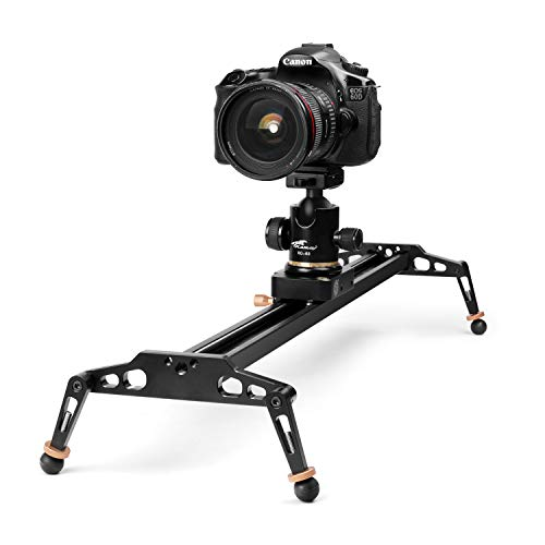 TNP DSLR DVカメラコンパクトトラックドリースライダービデオ安定化スタビライザーレールシステムwith 17.6ibs / 8kg負荷容量for Studio写真とビデオ