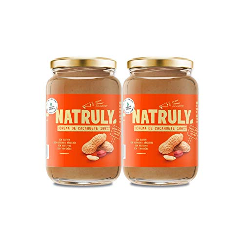NATRULY Crema de Cacahuete Natural, Sin Azúcar, Vegana, Sin