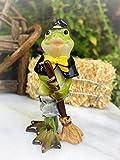 Dollhouse Figurine Mini Halloween Frog in Witch Costume - Miniature Magic Scene Supplies Your Fairy Garden - Outdoor House Decor