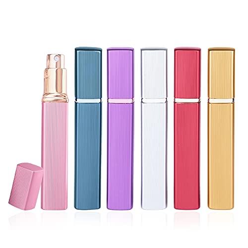 Pinkiou 12ml アトマイザー メタル レッド 香水瓶 ガラス クイックアトマイザー 男女兼用 外観金属 6個入