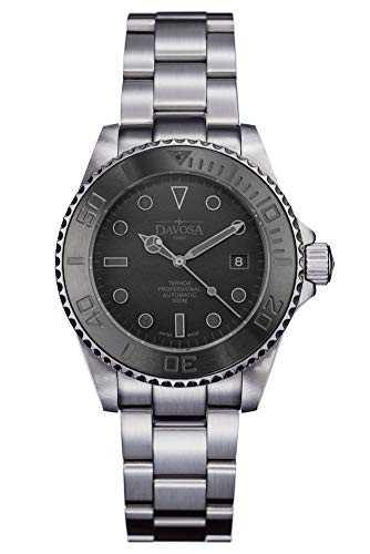 Davosa Automatik-Armbanduhr Ternos Pro, Edelstahl, Schwarz