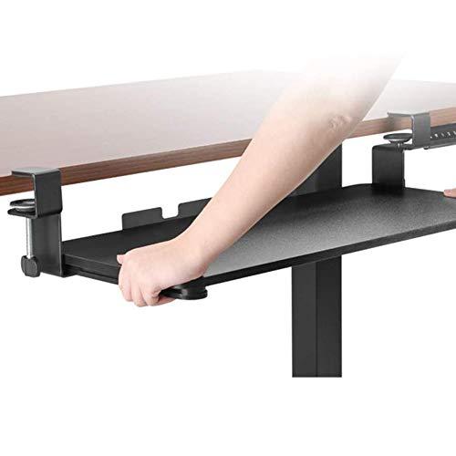 Tastaturablage unter Schreibtisch, ergonomische Maus & Tastatur Schiebefach-Computer-Schreibtisch-Extender, Tastaturschublade Computerstand