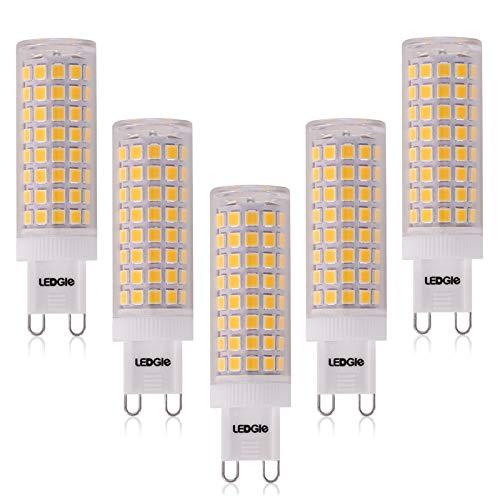 G9 LED Lampadina 10W, LEDGLE 100-LED SMD2835 Lampade LED G9, 900LM Equivalente 100W Lampada Alogena, Luce Bianca Calda 3000K, Non Dimmerabile, Angolo Di Fascio Di 360 ,Confezione da 5