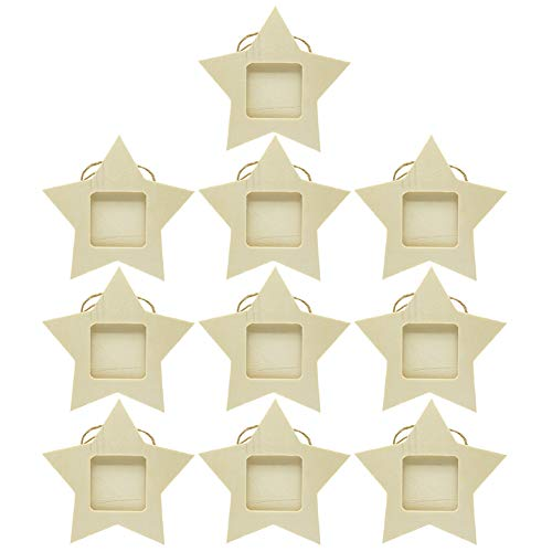 Lzttyee 10PCS Unfinished Wood Mini Photo Frame Handmade Durable...
