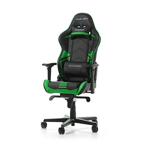 DXRacer (l'original) Racing Pro R131 Chaise Gaming, Similicuir, Noir & Vert, 165-195 cm