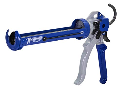 Newborn 250 Super Smooth Rod Revolving Frame Caulking Gun, 1/10-Gallon Cartridge Capacity, 18:1 Thrust Ratio