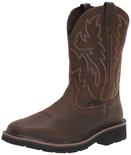Wolverine Men's Rancher 10' Square Toe Steel Toe Work Boot