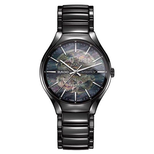 Rado True Herren-Armbanduhr 40.1mm Armband Keramik Schwarz Automatik R27100912