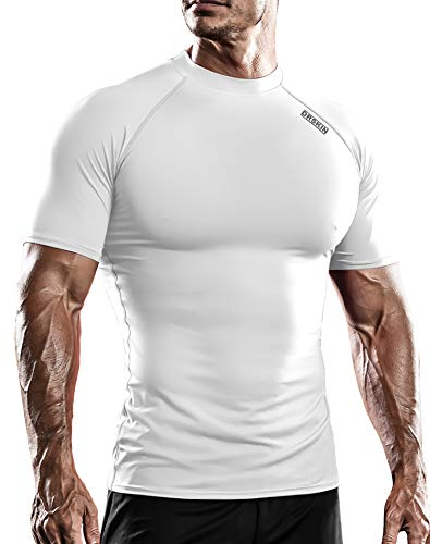DRSKIN Compression Cool Dry Sports Tights Shirt Baselayer Running Leggings Yoga Rashguard Men (SW-WN086, L)