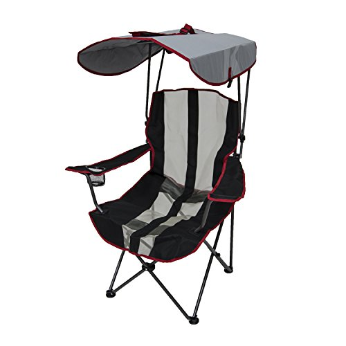 Kelsyus Original Canopy Chair - Foldable Chair for Camping, Tailgates, and Outdoor Events - Red Stripe