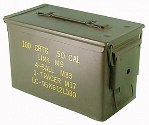 Texto original en la caja de municiones usadas Ejército de los E.E.U.U. para 300 Calibre De Los Cartuchos 7,62 Caja de metal Caja Mun Contenedor Metallbox
