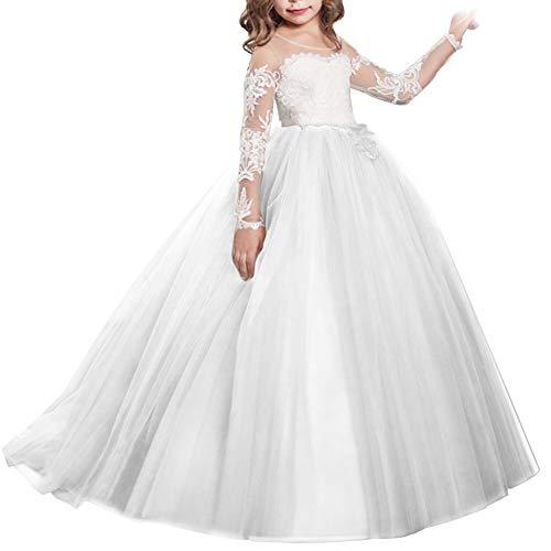 Princesa Vestido de niña de Flores para la Boda Vestidos de