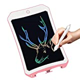 8.5 inch Writing &Drawing Board Doodle Board Toys for Kids, Spring& Birthday Gift for 4-5 Years Old Kids & Adults Color LCD Writing Tablet with Stylus Smart Paper for Drawing Writer(Pink-white-cc)