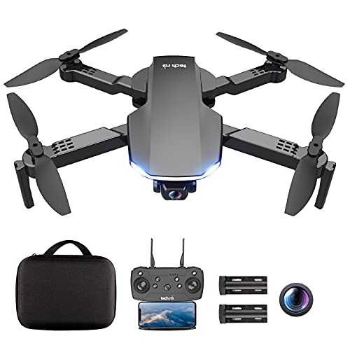 tech rc Drone con Telecamera 1080P Drone Professionale Pieghevole con Borsa Due Batterie di 26 Minuti Sospensione Altitudine Un Pulsante di Decollo/ Atterraggio ,Modalit Senza Testa,Drone per Adulti
