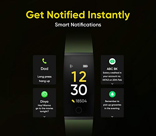 Realme Band (Green) - Full Colour Screen with Touchkey, Real-time Heart Rate Monitor, in-Built USB Charging, IP68 Water Resistant 3