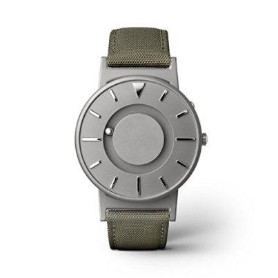 EONE Bradley Canvas Olive Green Quartz Titanium Watch