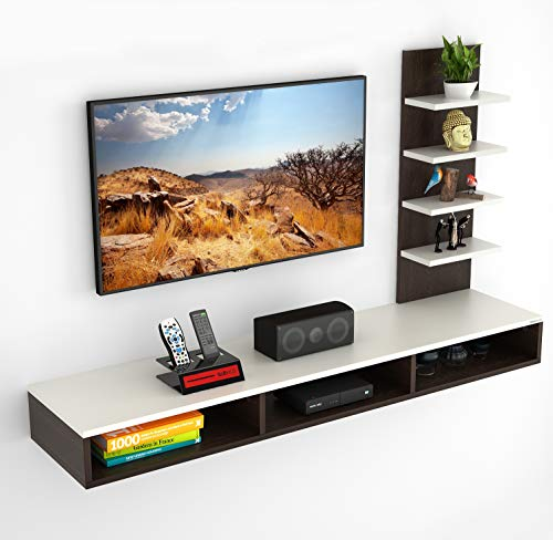 BLUEWUD Primax TV Entertainment Wall Unit/Set Top Box Stand (Standard/Ideal for up to 42')