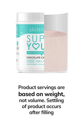 SkinnyFit Super Youth Multi-Collagen Peptide Powder Chocolate Cake Flavor, Hair, Skin, Nail, & Joint Support, 58 Servings 8