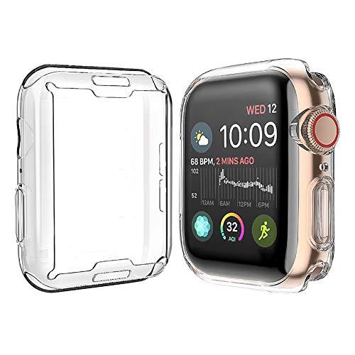 Misxi 【2枚セット】 Apple Watch Series 4 40mm ケース, 全面保護 耐衝撃 メッキ 柔らかい TPU ウオッチ保...