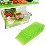 Dualplex Fruit & Veggie Life Extender Liner for Fridge Refrigerator Drawers, 6 x 16.5 Inches (6 Pack) – Extends The Life of Your Produce & Prevents Spoilage