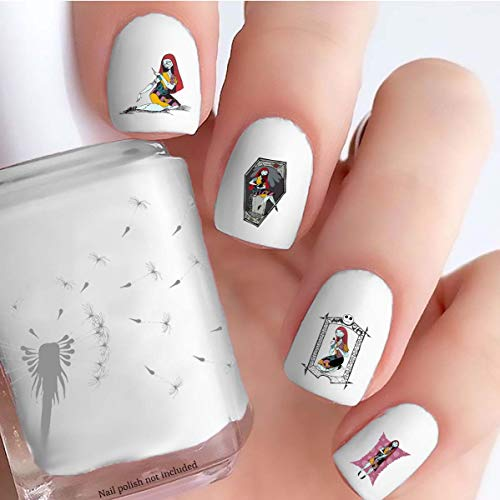 The Nightmare before Christmas Sally (Clear Water-Slide Nail Decals)