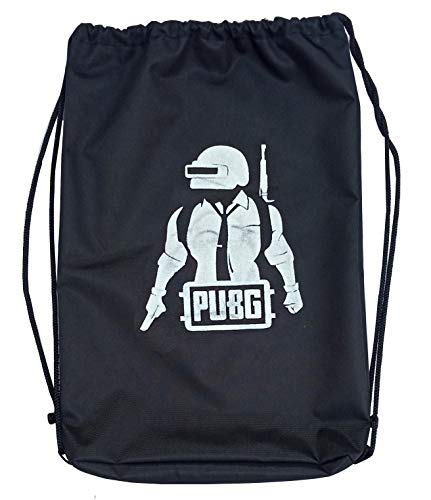 Victory PUBG String Bag for Running, Football, Riding, Gym and Cycling - Black