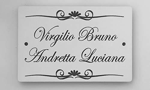 Mosaici Guizzo Targa con Fori in Ceramica incisa con greche Decorative_Colore Bianco Latte
