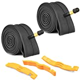 2 Pack Bike Tube with 3 Tire Levers,26'×1.75/1.95/2.10/2.125 Bicycle Inner Tube Tyres Road MTB...