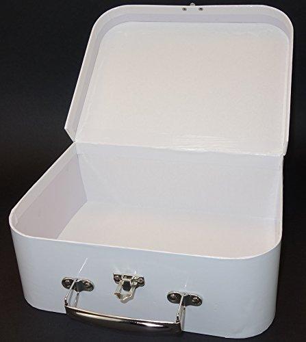 BUSDUGA - Kinderkoffer zum selberbemalen und gestalten, weiß mit Metallgriff