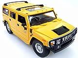 ラジコンカー クリスマス プレゼント ラッピング 包装 ハマー HUMMER H2 2.4Ghz ライセンス承認車 1/24RC イエロー