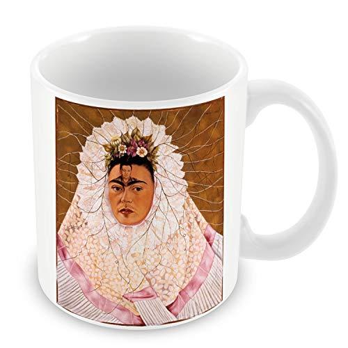 Taza de Cerámica Frida Kahlo pintura Original del arte del vintage del artista 6