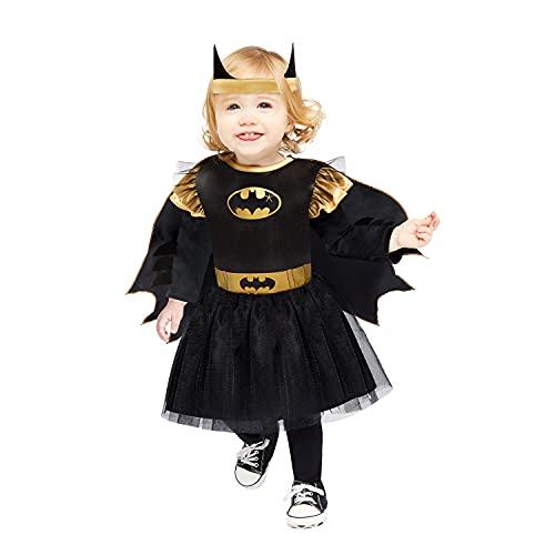 Amscan 9907679 Child Girls Official Warner Bros. Licensed Batgirl Toddler Fancy Dress Costume (2-3 years), Black