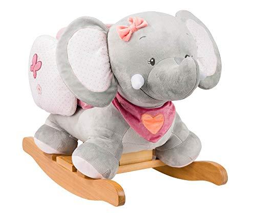 Nattou Schaukeltier Elefant Adèle, 10 - 36 Monate, 60 x 39 x 50 cm, Rosa/Grau