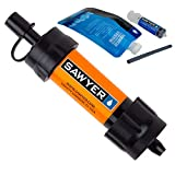 Sawyer Mini Filter Sparsets Wasserfilter für Camping Outdoor Hiking Wandern Sport Fitness (SP103 Orange)