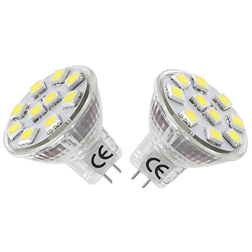 LE LED電球 20Wハロゲン電球代替品 MR11 GU4.0口金 埋め込み式 1.8W 昼光色 2台セット