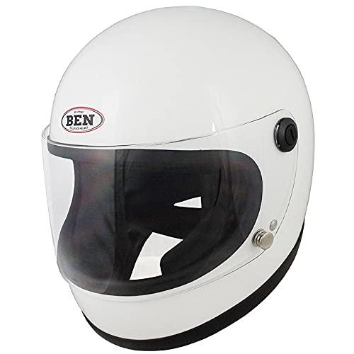 TNK工業 スピードピット B-60 NEO フルフェイスヘルメット ホワイト FREEサイズ(58-59㎝) 51317