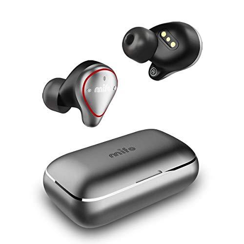 True Wireless Earbuds TWS Mifo O5PLUS Bluetooth 5.0 in-Ear Sport Wireless Headphones APTX Stereo Sound IPX7 Waterproof Built in Mic Earphone 100h Playtime with 2600mAh Charging Case
